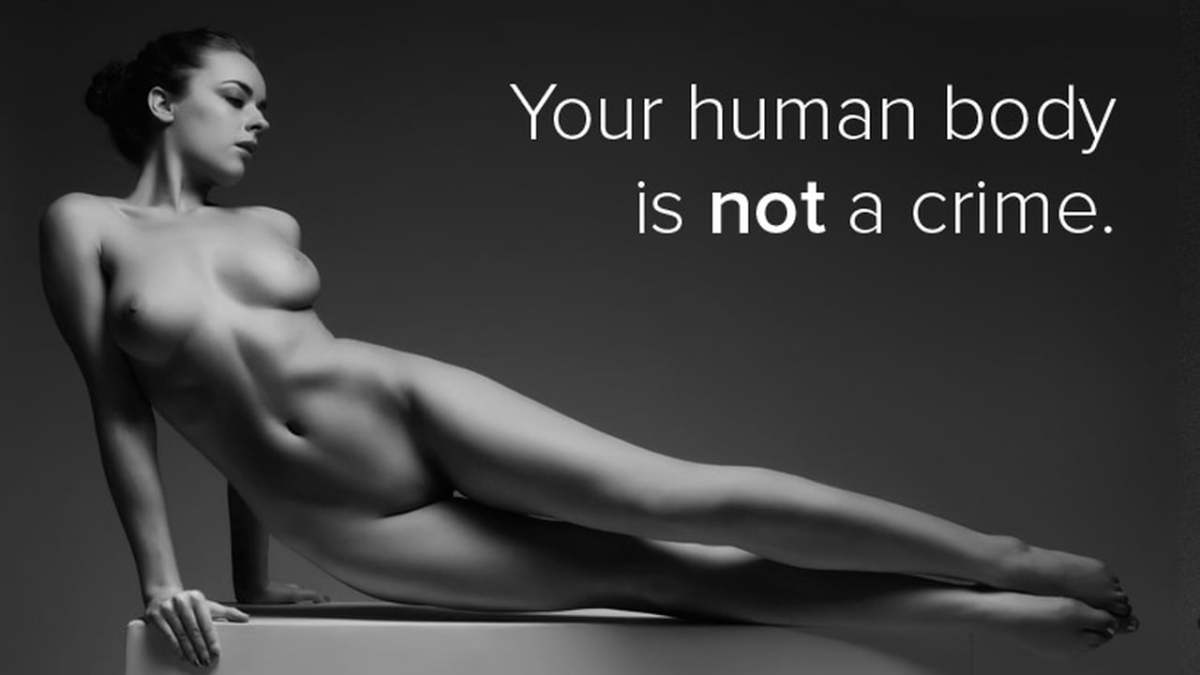 Your naked body is not a crime. Is nude art obscene?