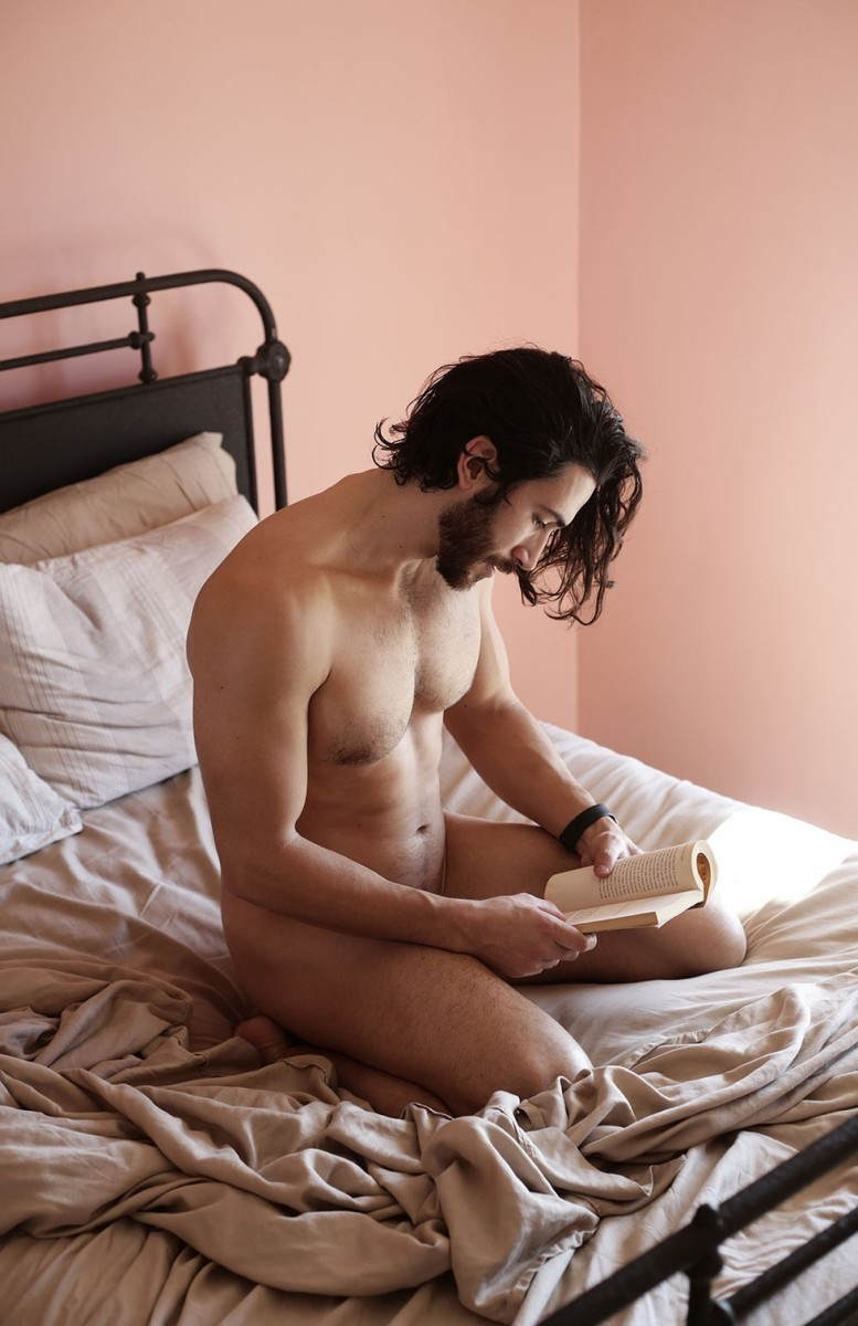 "Naked Men Reading In Bed in ""Beau Books"""